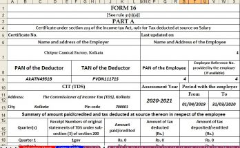 Income Tax Form 16